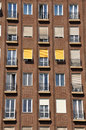 Facade of apartment block Royalty Free Stock Photo