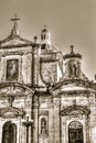 Facade of baroque church, Grotto and Parish Church of St Paul Royalty Free Stock Photo
