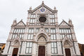 Facade of Basilica di Santa Croce in autumn day Royalty Free Stock Photo