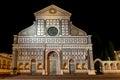 Facade Basilica di Santa Maria Novella Florence Firenze Tuscany Italy Night Royalty Free Stock Photo