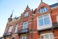The facade of a beautiful home  in Den Bosch. Royalty Free Stock Photo