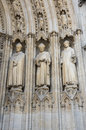 Facade of bordeaux cathedral cathedrale saint andre de is a roman catholic seat the archbishop bazas Stock Images