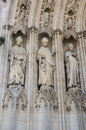 Facade of bordeaux cathedral cathedrale saint andre de is a roman catholic seat the archbishop bazas Royalty Free Stock Photos