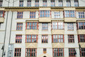 Facade of a building in cubist style in the jewish quarter of prague Royalty Free Stock Photo