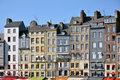 Facade building of Honfleur in France Royalty Free Stock Image