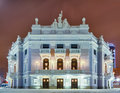 The facade of the building of the Opera and Ballet Theatre Royalty Free Stock Images