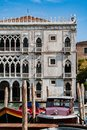 Facade of Ca D`Oro palace on Grand Canal in Venice, Italy Royalty Free Stock Photo
