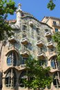 Facade of casa batllo exterior view in barcelona building was made by great antoni gaudi Stock Photography