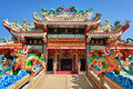 Facade of the Chinese Temple Royalty Free Stock Photo
