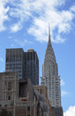 Facade of the chrysler building in new york april afternoon bright sun on april was world s Stock Image