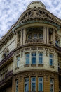 Facade on classical building with ornaments and sculptures stone belgrade serbia Stock Photography