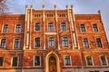 Facade clinker brick townhouse Royalty Free Stock Photo
