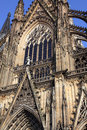 Facade of the cologne cathedral detail Royalty Free Stock Photos