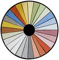 Facade color swatch cutout wheel sample Stock Image