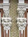 Facade decoration ornament placed on the outside of the of the house that enhances and protects the house Royalty Free Stock Photo