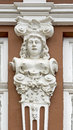 Facade decoration ornament placed on the outside of the of the house that enhances and protects the house Stock Photos