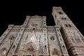 Facade duomo Basilica di Santa Maria del Fiore Florence Firenze Tuscany Italy night Royalty Free Stock Photo