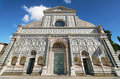 Facade of famous landmark in Florence, Santa Maria Novella church, Florence, Italy. Royalty Free Stock Photo