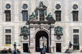 The facade of the gate to hofgarten in odeonsplatz downtown munich bavaria germany Stock Photo