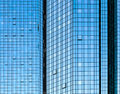 Facade glass front of skyscraper with sun reflections Royalty Free Stock Photo