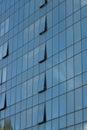 Facade glass windows of a building Royalty Free Stock Photo