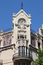 Facade of gran hotel in palma de mallorca building spain Stock Image
