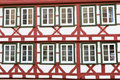 Facade of a half-timbered house, Germany Stock Photo