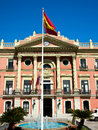 Facade of the historic casa consistorial the town hall ayuntamiento in murcia city spain Royalty Free Stock Photos