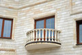Facade of house with balcony Royalty Free Stock Images