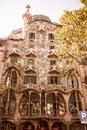 The facade of the house Casa Battlo Royalty Free Stock Photo