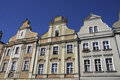 Facade of the house on the market in opole Royalty Free Stock Images