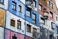 Facade of The Hundertwasserhaus apartment building, Vienna, Austria Royalty Free Stock Photo