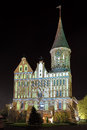 Facade of the koenigsberg cathedral in the night russia kaliningrad Stock Photography