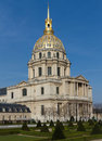 Facade of Les Invalides Stock Image