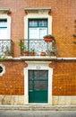 Facade of living house in Faro city