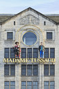Facade of madame tussaud amsterdam aug on aug in during french revolution was marie commissioned to perpetuate the famous Royalty Free Stock Images