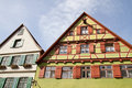 Facade of medieval house in Dinkelsbuehl Royalty Free Stock Photo