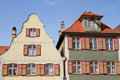 Facade of medieval house in Dinkelsbuehl Stock Photos