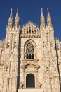 Facade of Milan cathedral Stock Image