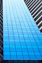 Facade of modern blue office Royalty Free Stock Photo