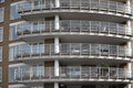 facade of a modern building with balconies in London Royalty Free Stock Photo