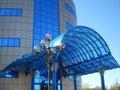 Facade of a modern building of shopping centre Royalty Free Stock Photo