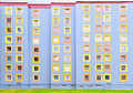 Facade of the modern colorful multistory house Royalty Free Stock Photo