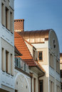 Facade of modern multi family house during sunny day Royalty Free Stock Photos