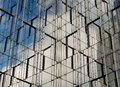 Facade of modern office building with reflection Royalty Free Stock Images