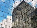 Facade of modern office building with reflection Stock Photography