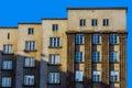 Facade of a modernistic edifice in katowice silesia region poland Royalty Free Stock Photography