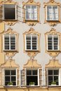 The facade of Mozarts birth house in Salzburg, Austria Royalty Free Stock Photo