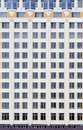 The facade of the new high-rise building