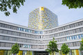 Facade of new modern ADAC headquarters and offices building Royalty Free Stock Photo